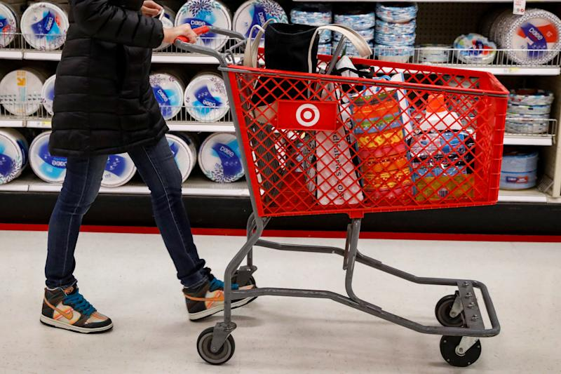 A shopper is seen in a Target store in the Brooklyn borough of New York, U.S., November 14, 2017. REUTERS/Brendan McDermid