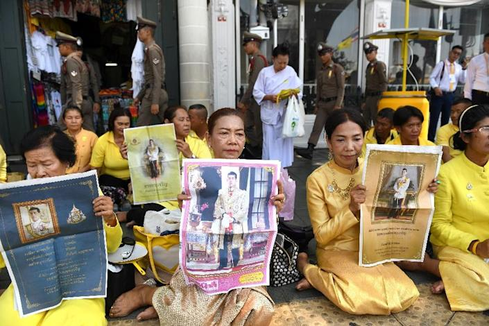 Many are expected to gather for Sunday's hourslong procession (AFP Photo/Lillian SUWANRUMPHA)