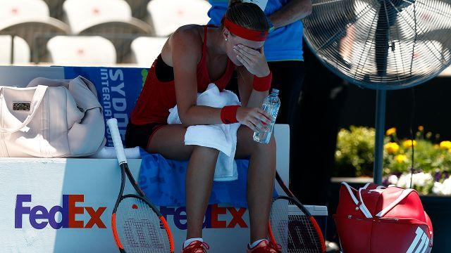 Mladenovic felt the heat big time. Image: Getty