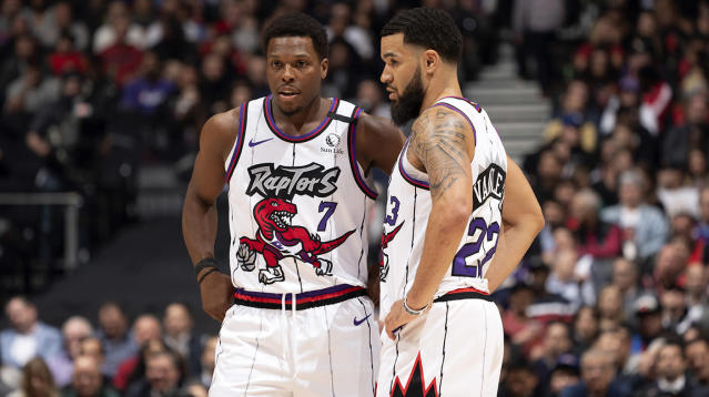 The Toronto Raptors face an uncertain future with the coronavirus threatening to wipe out the NBA season. (Photo by Mark Blinch/NBAE via Getty Images)