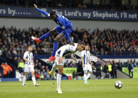 Britain Football Soccer - West Bromwich Albion v Leicester City - Premier League - The Hawthorns - 29/4/17 Leicester City's Wilfred Ndidi in action with West Bromwich Albion's Jake Livermore Reuters / Darren Staples Livepic