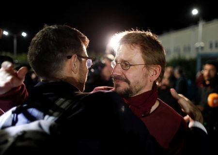 German citizen Peter Frank Steudtner reacts after being released from the Silivri prison complex near Istanbul, Turkey, October 26, 2017. REUTERS/Osman Orsal
