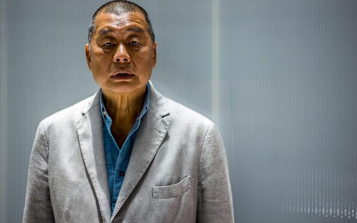 immy Lai, 72, poses during an interview with AFP at the Next Digital offices in Hong Kong in June