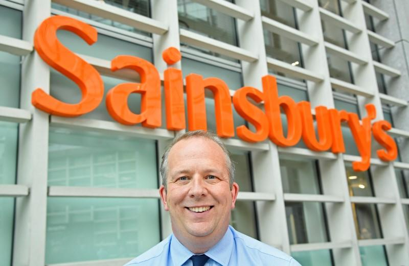 FILE PHOTO: Roberts, Retail and Operations Director of Sainsbury's and incoming CEO, poses for a portrait at the company headquarters in London