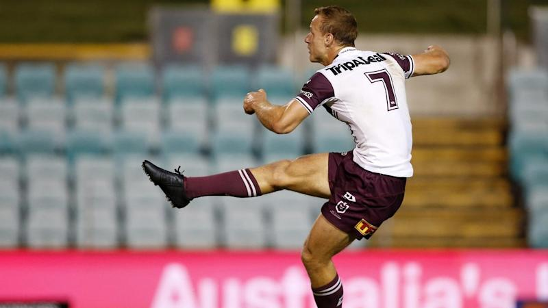 A field goal by ice-cool Daly Cherry-Evans has given Manly a 9-8 NRL win over the Sydney Roosters