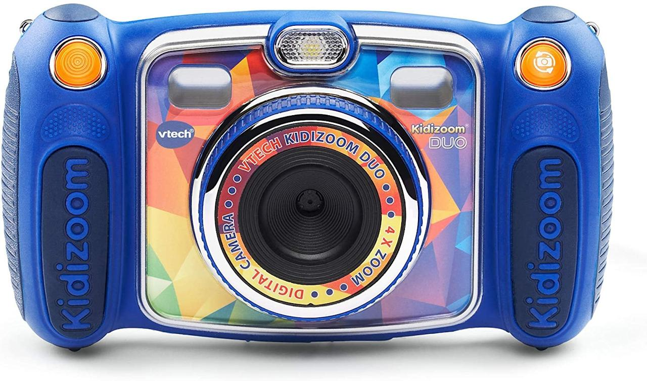 "<p>Kids aged 4-9 will enjoy staying busy and snapping photos using this <a href=""https://www.popsugar.com/buy/VTech-Kidizoom-Duo-Selfie-Camera-515402?p_name=VTech%20Kidizoom%20Duo%20Selfie%20Camera&retailer=amazon.com&pid=515402&price=48&evar1=travel%3Aus&evar9=46883098&evar98=https%3A%2F%2Fwww.popsugar.com%2Ftravel%2Fphoto-gallery%2F46883098%2Fimage%2F46883109%2FVTech-Kidizoom-Duo-Selfie-Camera&list1=travel%2Choliday%20travel%2Clittle%20kids%2Ckid%20shopping&prop13=api&pdata=1"" rel=""nofollow"" data-shoppable-link=""1"" target=""_blank"" class=""ga-track"" data-ga-category=""Related"" data-ga-label=""https://www.amazon.com/VTech-Kidizoom-Selfie-Camera-Exclusive/dp/B013UPCBN0/"" data-ga-action=""In-Line Links"">VTech Kidizoom Duo Selfie Camera</a> ($48).</p>"