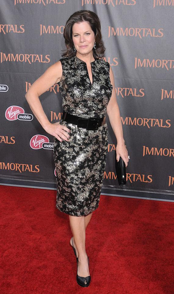 "<a href=""http://movies.yahoo.com/movie/contributor/1800023339"">Marcia Gay Harden</a> at the Los Angeles premiere of <a href=""http://movies.yahoo.com/movie/1810150710/info"">Immortals</a> on November 7, 2011."