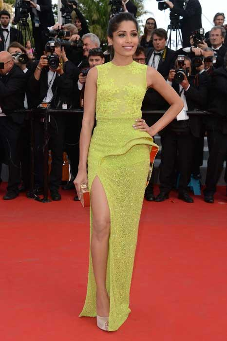 """Pinto rose to prominence playing the role of """"Latika"""" in the 2008 British Indian drama film Slumdog Millionaire, a film that marked her debut."""