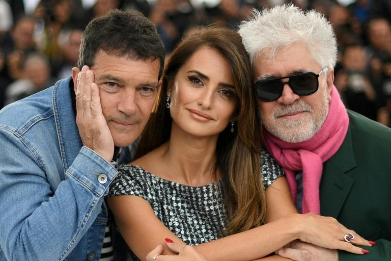 Antonio Banderas has acted in eight films directed by Pedro Almodovar, seen here with co-star Penelope Cruz