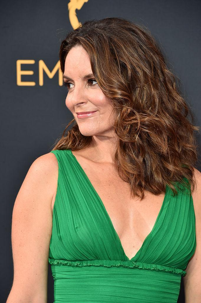 <p>Fey gave birth to her second daughter Penelope aged 41 [Photo: Getty] </p>