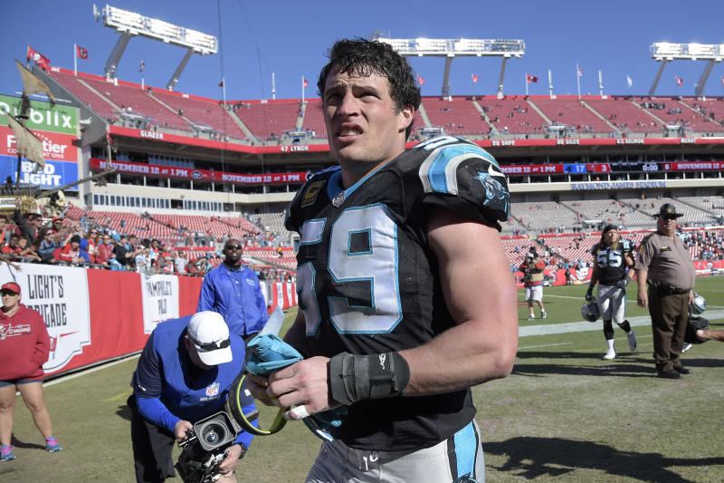 Luke Kuechly is the only inside linebacker to win NFL defensive player of the year since 2005. (AP)
