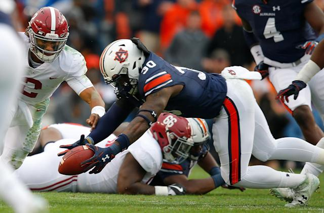 Auburn plays Central Florida in the Peach Bowl on Jan. 1. (Getty Images)