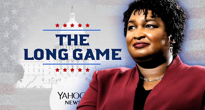 Stacey Abrams (Photo illustration: Yahoo News; photos: AP(2), Getty Images)