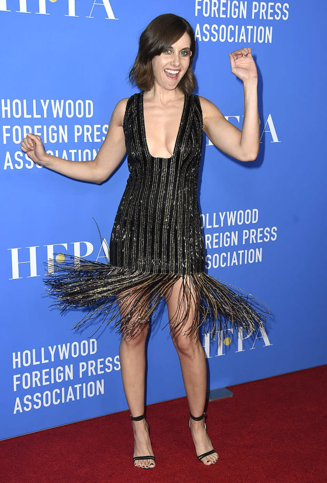 <p>You <i>GLOW</i>, girl! The star shook things up in her flapper-inspired, Thai Nyguen dress at the Hollywood Foreign Press Association Grants Banquet. (Photo by Jordan Strauss/Invision/AP) </p>