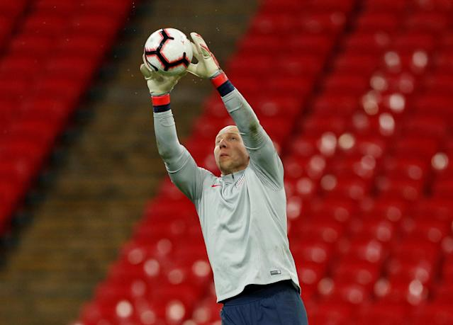 Brad Guzan is likely to split this month's two games with Horvath. (Reuters/John Sibley)