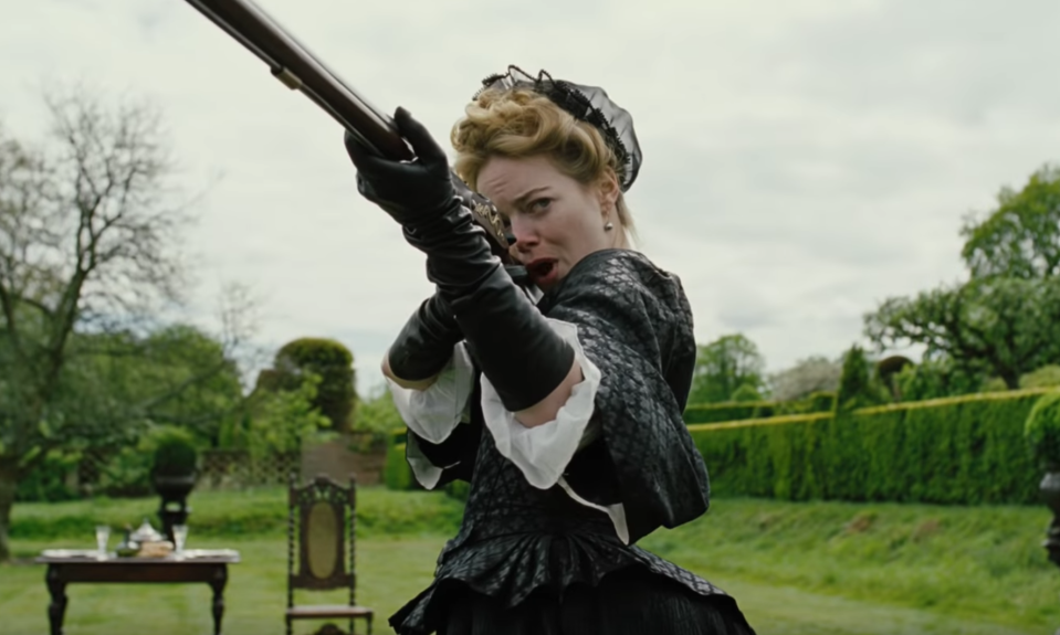 Emma Stone affects a convincing English accent in the first teaser for Yorgos Lanthimos' <i>The Favourite</i> (Fox Searchlight)