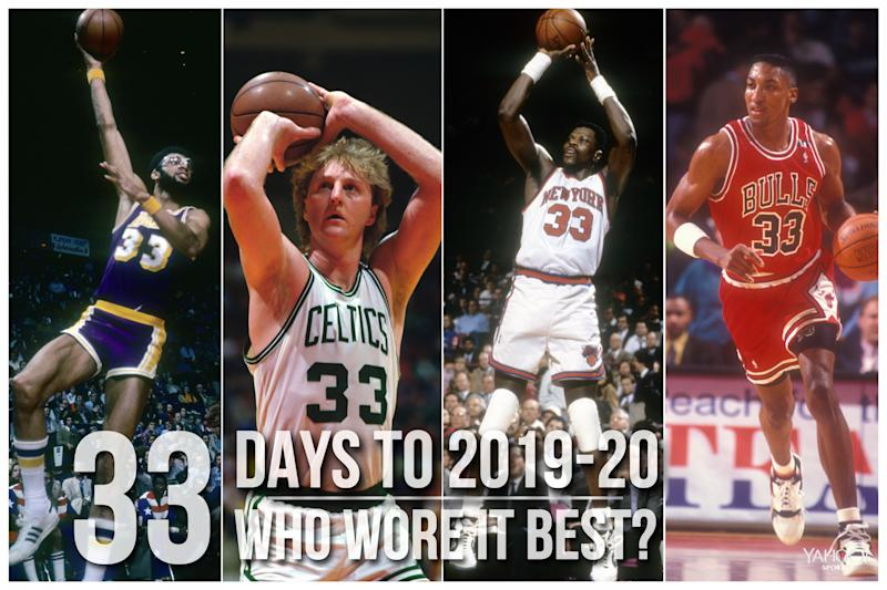 Which NBA player wore No. 33 best?