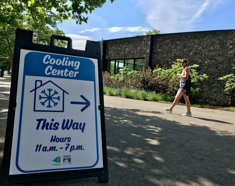 Spokane is one of many cities to have opened 'cooling centres' (Andrew Buncombe)