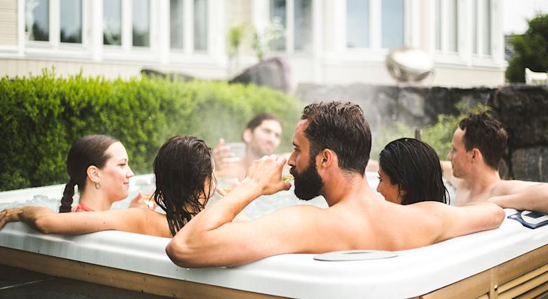 Hot tubs or outdoor garden spas are the perfect way to relax all year round. (Getty Images)