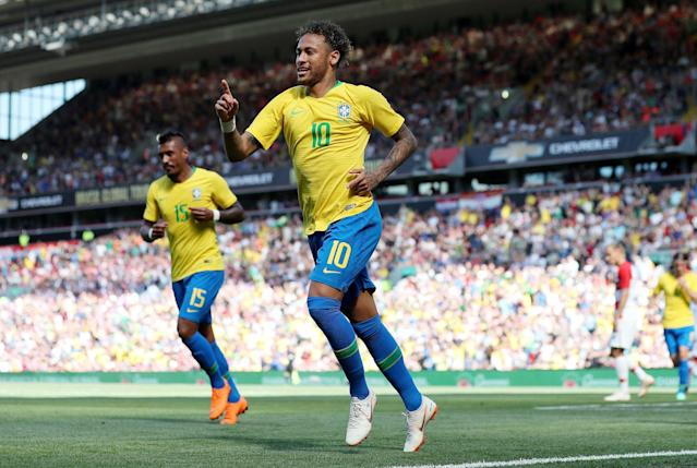 <p>Age: 26<br> Caps: 84<br> Position: Forward<br>We're not quite talking Ronaldo 2002 levels, but Neymar may well be thinking redemption here – he was injured during Brazil's quarter-final with Colombia four years ago, and missed the embarrassing 7-1 semi-final defeat to Germany. </p>