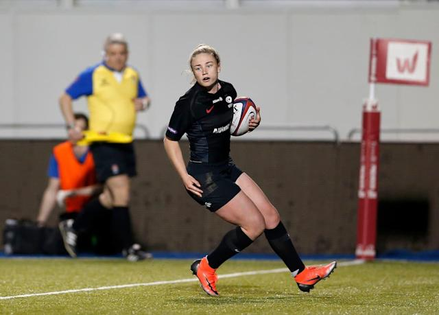 Chantelle Miell in action for Saracens (Credit: Saracens Women)