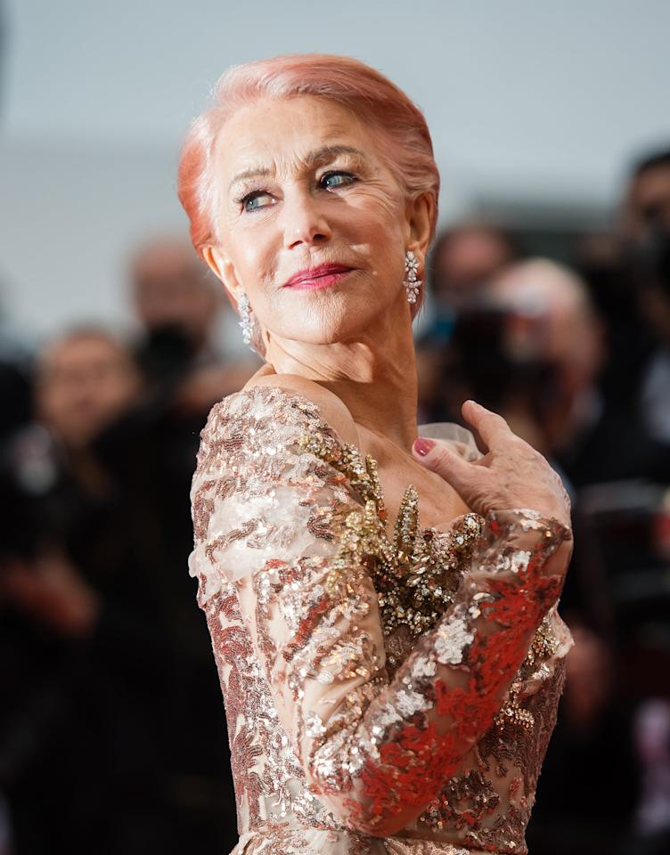 Helen Mirren Makes a Case For Cotton Candy Hair at Cannes, and We're in Love