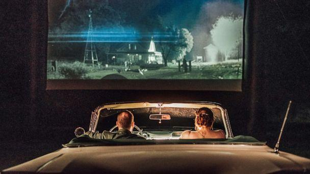 PHOTO: Rachel Borwegen and Andrew Jaworski wed last month in Belvidere, New Jersey. The party, photographed by Abigail Gingerale photography, was complete with a drive-in movie, 'Twister,' under the stars. (Abigail Gingerale Photography)