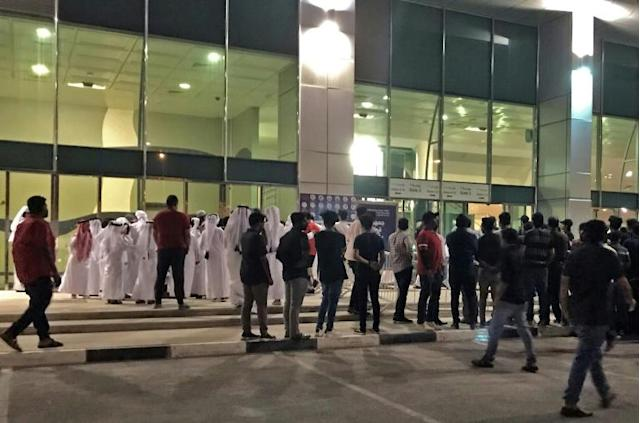 Indian ticket holders are unable to get into the stadium to watch the Qatar vs India World Cup qualifier (AFP Photo/Anne LEVASSEUR)