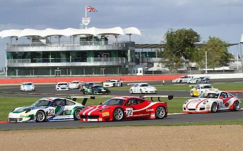 GT Cup racing at Silverstone