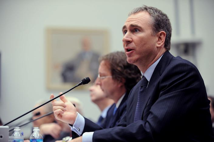 Citadel Investment Group President and Chief Executive Officer Kenneth Griffin testifies on Capitol Hill Washington, Thursday, Nov. 13, 2008, before the House Oversight and Government Reform hearing on