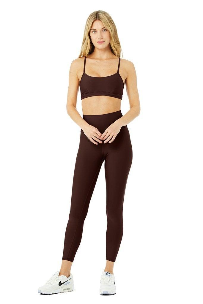 <p>We love the cool dark brown color and buttery soft fabric of this <span>Alo Airlift Intrigue Bra &amp; 7/8 High-Waist Airlift Legging Set</span> ($168).</p>