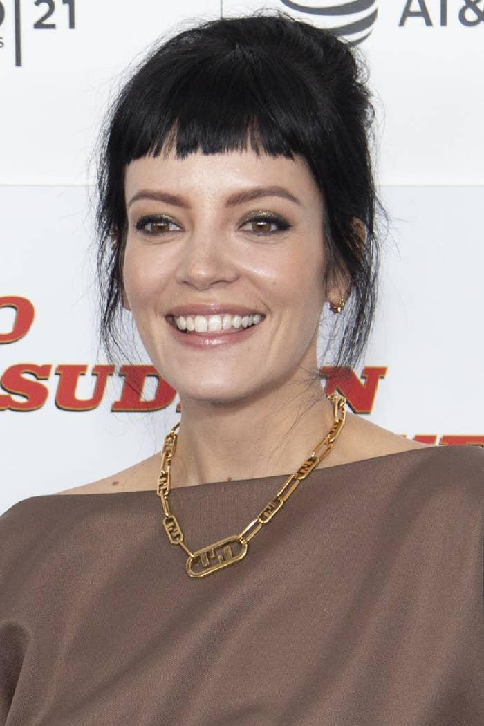 Lily Allen attends a premiere at the 2021 Tribeca Festival