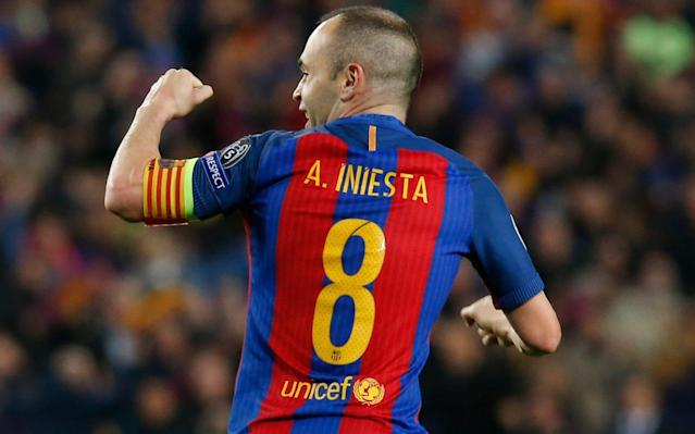 Andres Iniesta of Barcelona - AFP or licensors