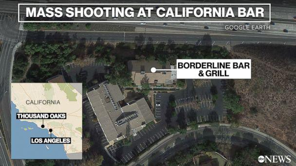 A mass shooting unfolded at the Borderline Bar and Grill in Thousand Oaks, Calif., Nov. 7, 2018. (ABC NEWS)