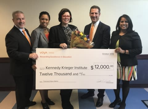 Voya Honors Baltimore Principal with Second-Place Unsung Heroes Program Award