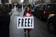 Supporters of Wikileaks founder Julian Assange celebrated outside the London court