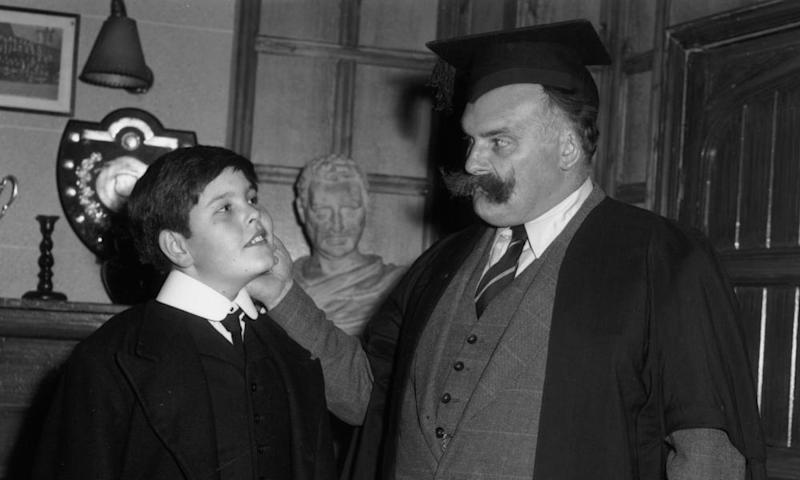 Jimmy Edwards as the headmaster in Whack-O! The series was written by Denis Norden and Frank Muir and first aired in 1956.