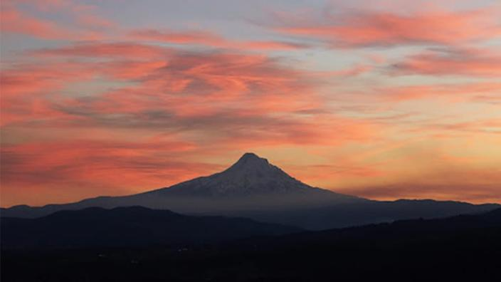 """<div class=""""inline-image__caption""""><p>Oregon's Mount Hood is arguably at its most regal when viewed across the Columbia River from it, in Washington.</p></div> <div class=""""inline-image__credit"""">Courtesy of Winston Ross</div>"""