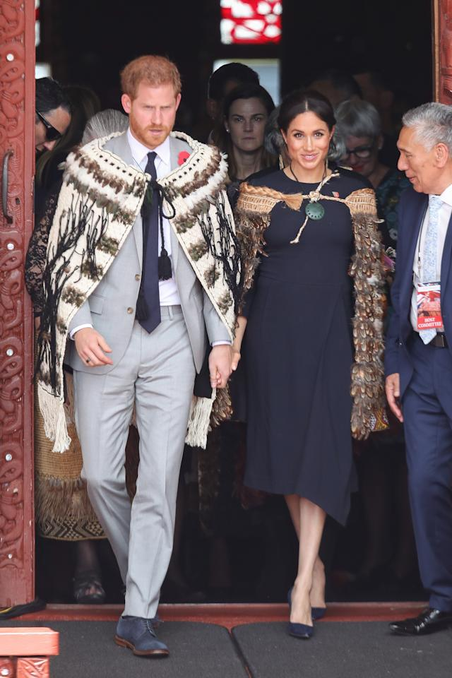 <p>The Duke and Duchess visited Te Papaiouru Marae, for aformal pōwhiri and luncheon in their honour, before heading to Rainbow Springs to learn more about the centre's kiwi breeding programme. Photo: Getty Images </p>