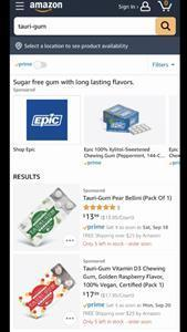 Tauriga Sciences Inc. Products Available on Amazon Prime