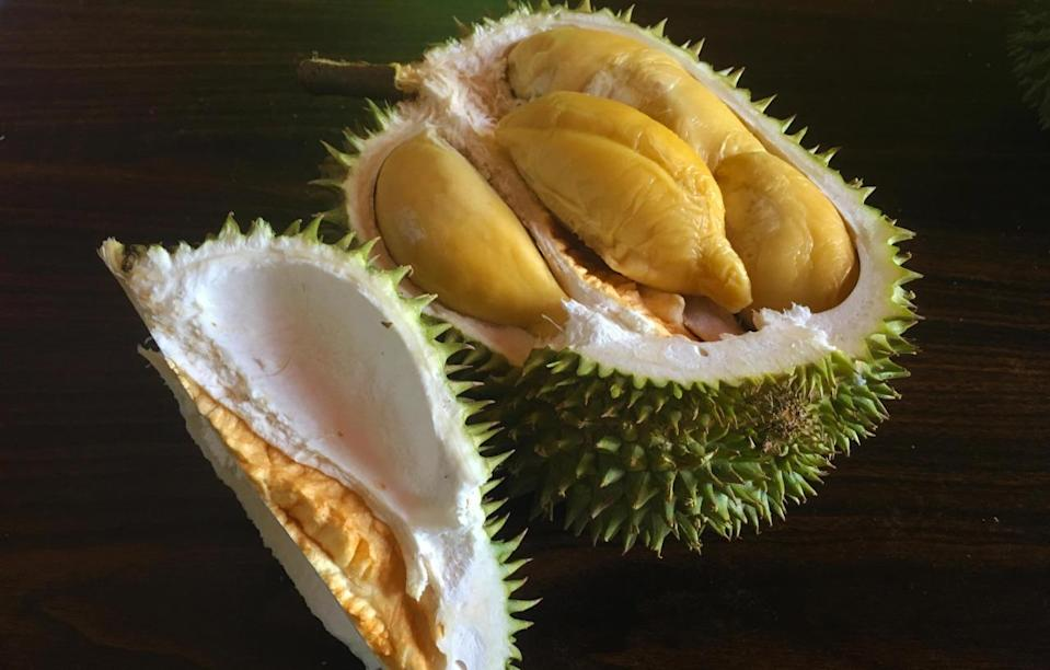 Originating from Segamat, Johor, the Bamboo is known for its creamy texture and sweet, yellow fibrous flesh. (Photo by: Erin Kimbrell/Yahoo Singapore)