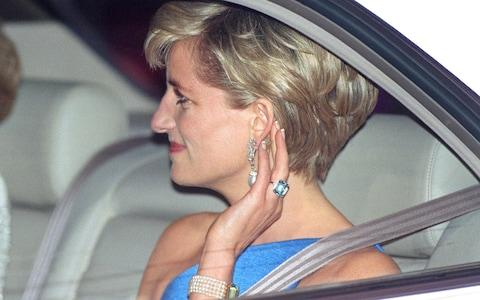 princess diana aquamarine ring - Credit: Julian Parker/UK Press via Getty Images