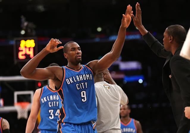 Serge Ibaka's seeing a knee specialist, and the Thunder might be in trouble