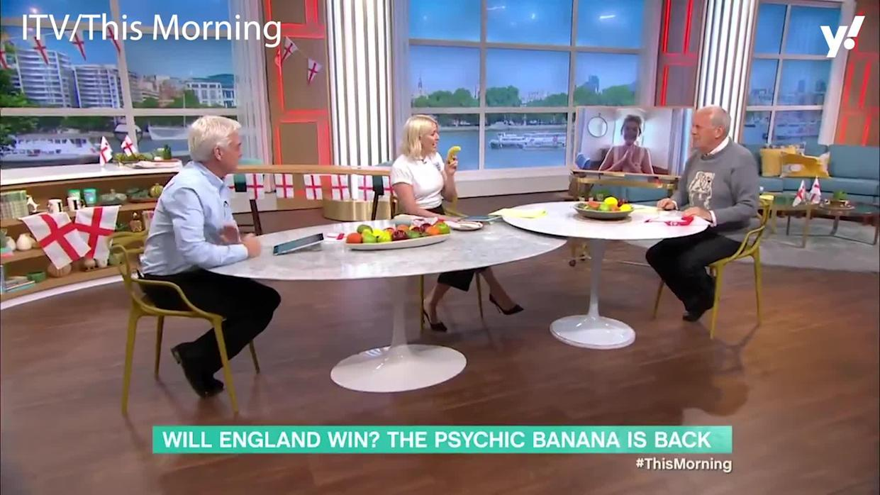 <p>This Morning was hyping up the football ahead of England's semi-final showdown with Denmark, and got a reading from 'The Physic Banana' which has successfully predicted the result of the games so far.The banana predicted a win for the Three Lions, and the clip ended up making its way to Denmark.</p>