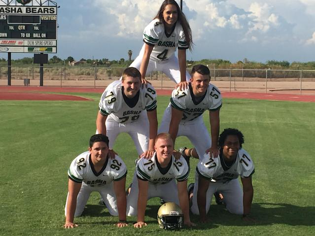 Adams State freshman Becca Longo became the first female kicker to receive a college college scholarship. (Photo courtesy of Bob Longo)