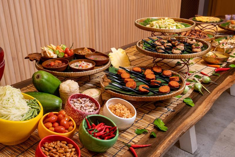 The brunch spread. Photo: Baan Ying