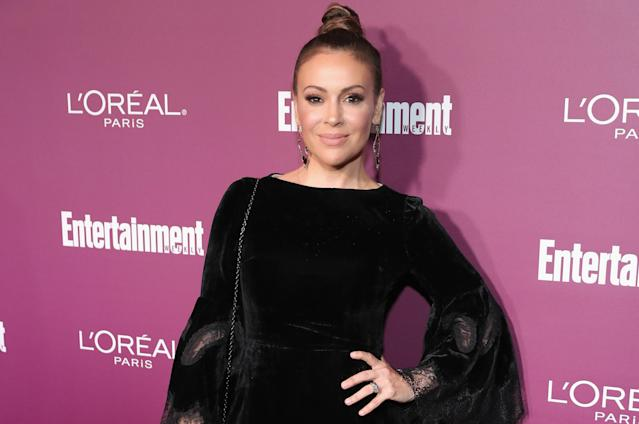 Alyssa Milano at a pre-Emmys party in September. (Photo: Neilson Barnard/Getty Images for Entertainment Weekly)