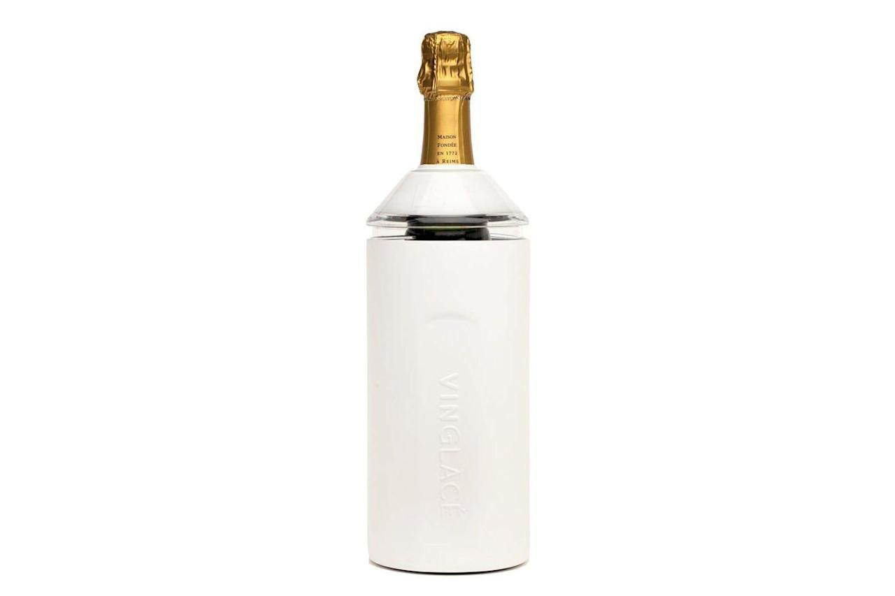 """<p><strong>BUY IT: $89.95; <em><a href=""""https://www.amazon.com/Vinglacé-Stainless-Steel-Wine-Insulator/dp/B07FWBCBJH/?ie=UTF8&camp=1789&creative=9325&linkCode=as2&creativeASIN=B07FWBCBJH&tag=southlivin04-20&ascsubtag=d41d8cd98f00b204e9800998ecf8427e"""" target=""""_blank"""">amazon.com</a></em></strong></p> <p> This stainless steel, double-walled wine cooler will keep a bottle chilled for hours. Pair with her favorite wine to complete the gift. </p>"""