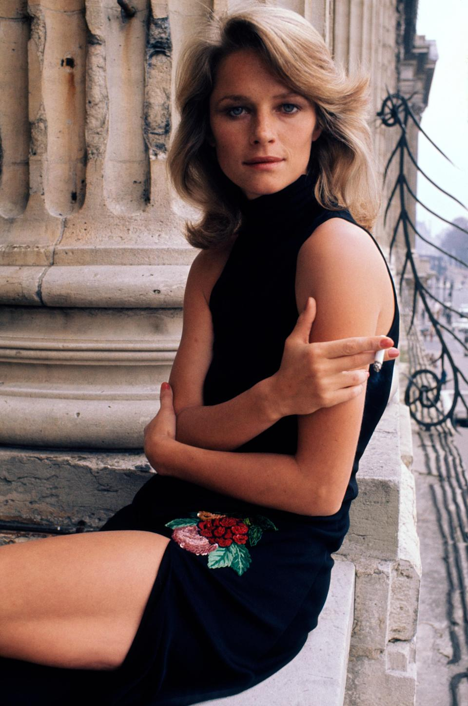 Charlotte Rampling photographed in 1974.
