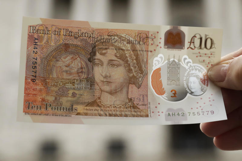 New plastic Jane Austen 10-pound note launched in UK